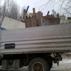 Вывоз мусора на ГАЗоне 5тн. высокие борта. Кузов 10кубов