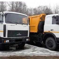 Большой самосвал на вывоз мусора в Ижевске. Маз 20тн. 17 кубов