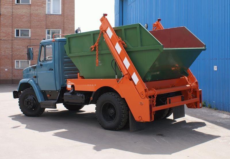 Вывоз мусора бункер накопитель, мульда 8 кубов